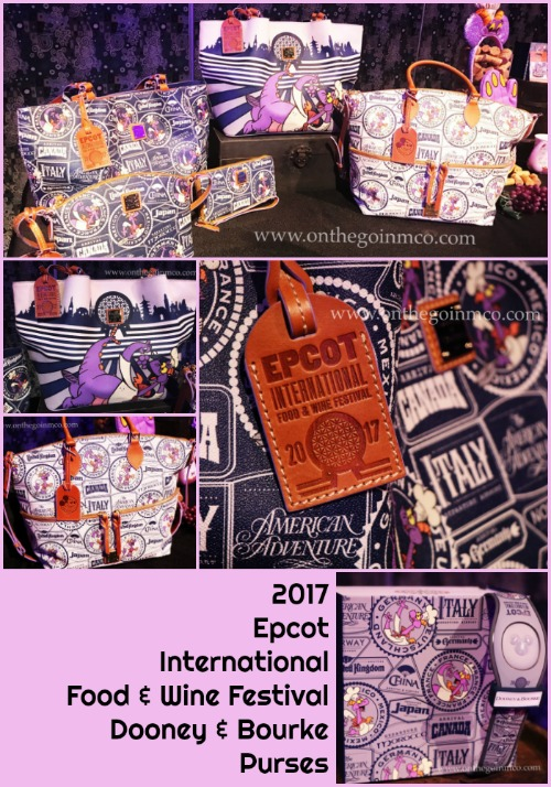 2017 Epcot Food & Wine Festival Dooney & Bourke Purses
