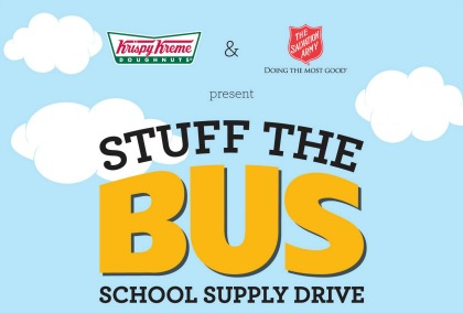 Krispy Kreme Stuff the Bus Supports the Salvation Army Logo 2017