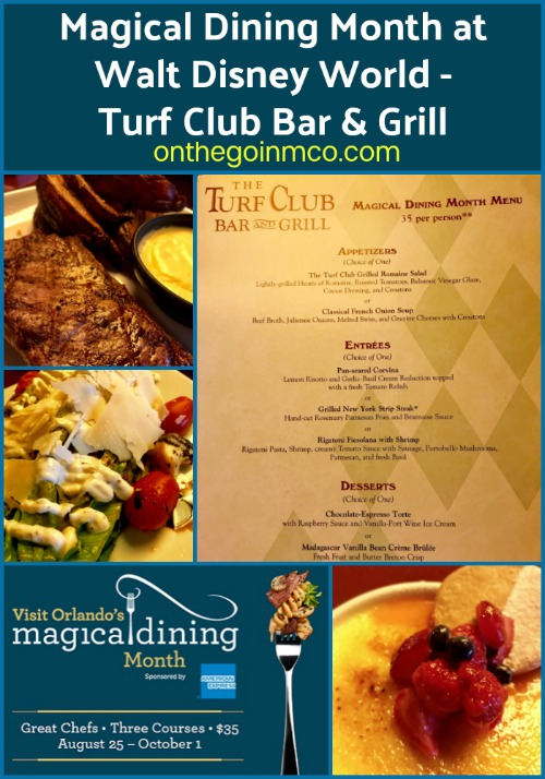 Walt Disney World Resort Restaurant Turf Club Visit Orlando Magical Dining Month 2017
