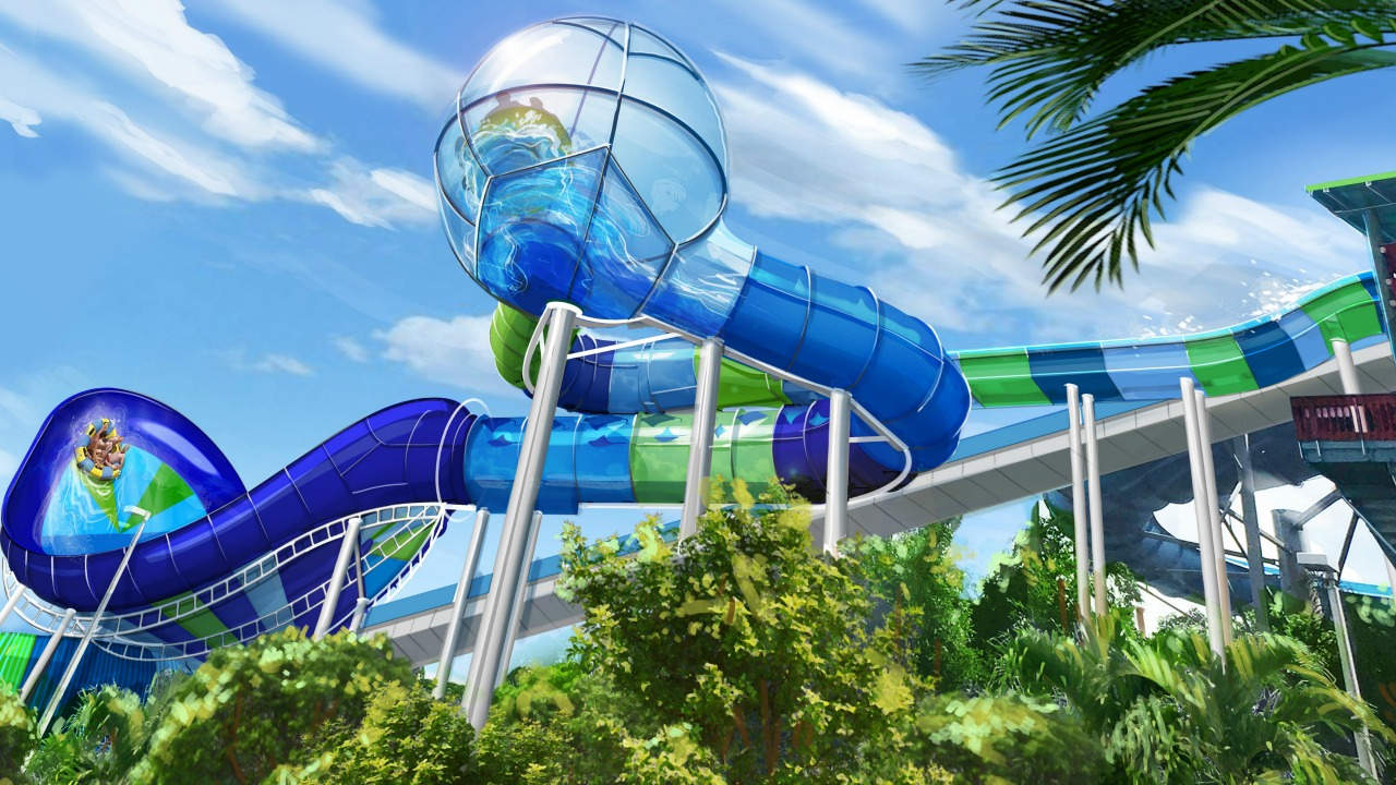 Ray Rush Family Raft Ride Rendering Aquatica