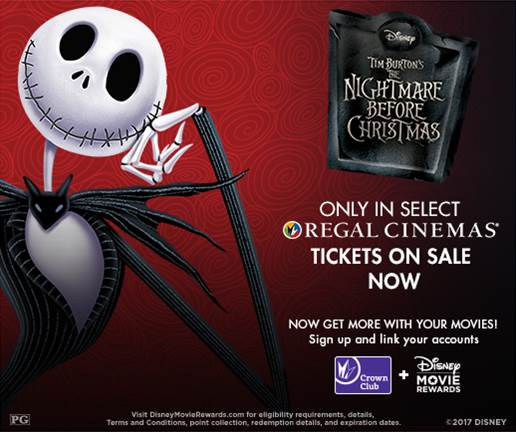 Nightmare Before Christmas Regal Cinemas Halloween 2017