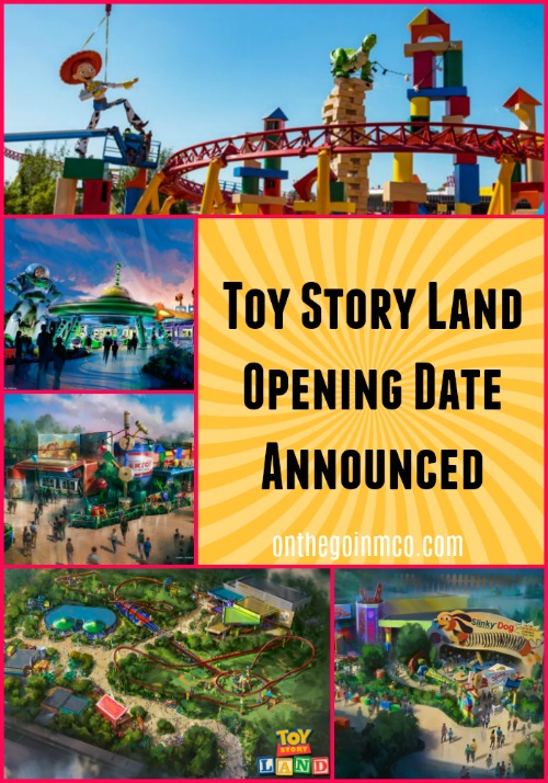Toy Story Land Opening Date Announced On The Go In Mco