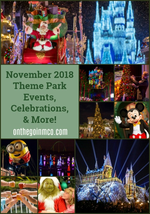 November 2018 Theme Park Events, Celebrations, and More!