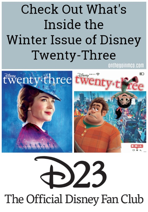 2018 Winter Issue Disney twenty-three d23
