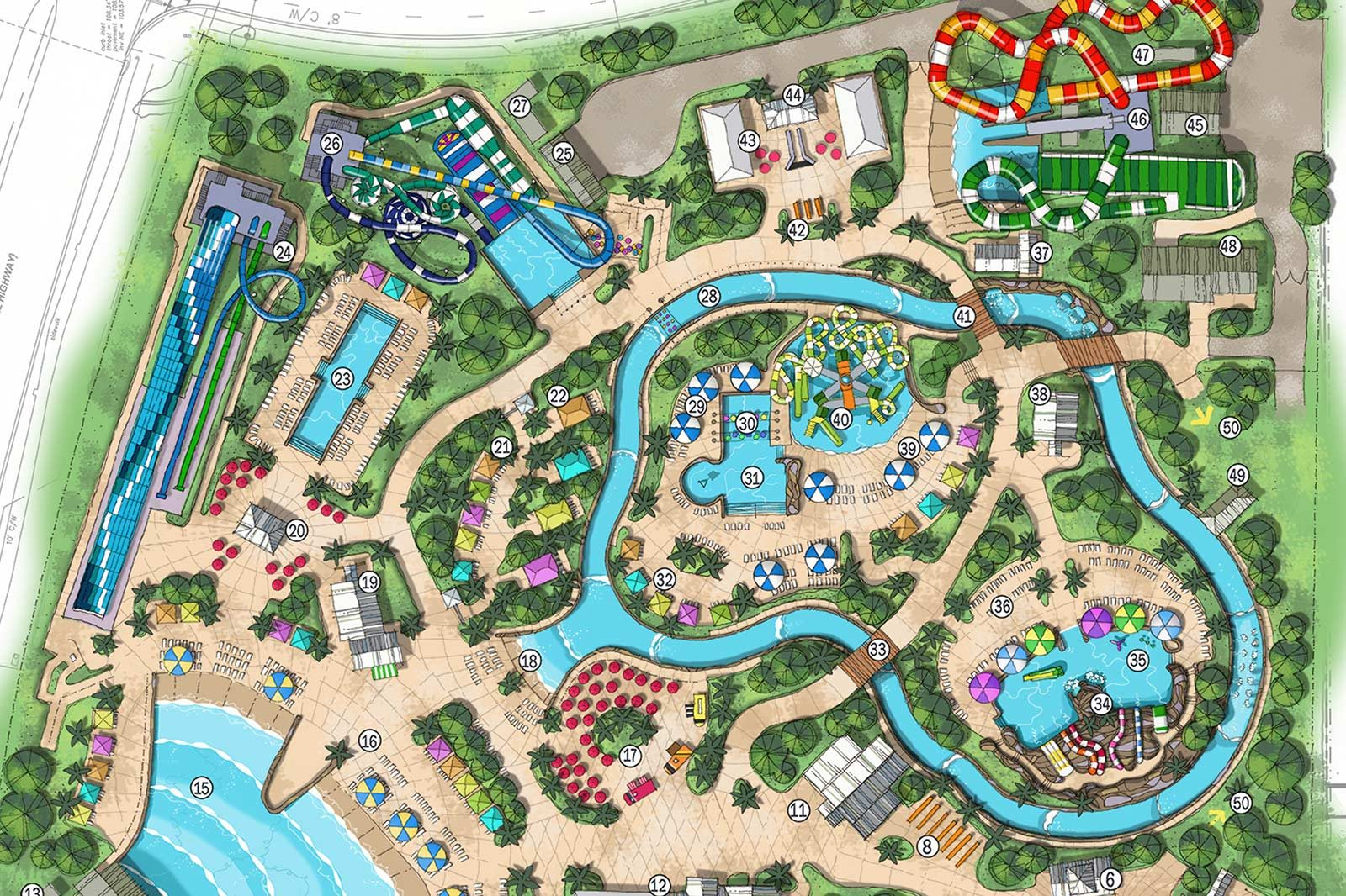 Island H2O Live Park Map Rendering