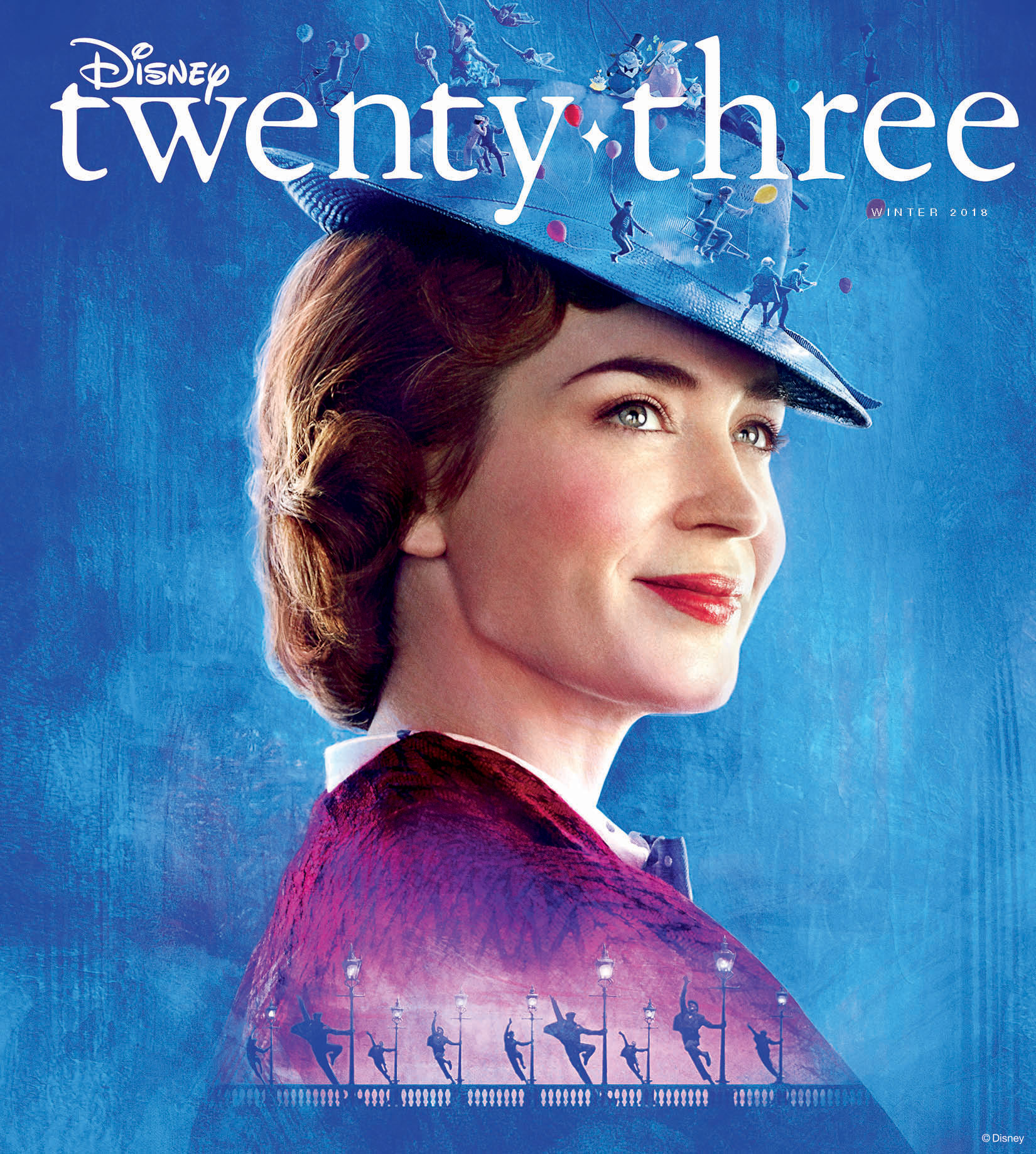 disney twenty three winter 2018 d23 - marry poppins front cover