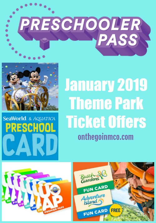 January 2019 Theme Park Ticket Offers