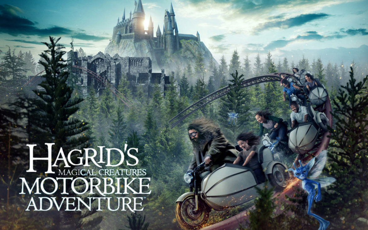 Fluffy Three-Headed Dog Hagrid's Magical Creatures Motorbike Adventure Universal Orlando Resort Universal's Islands of Adventure Wizarding World of Harry Potter Hogsmeade Harry Potter and the Sorecerers Stone