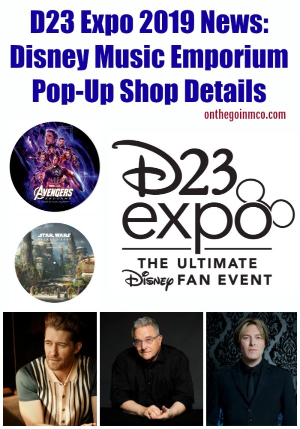 D23 Expo 2019 Disney Music Emporium Pop-Up Shop Details