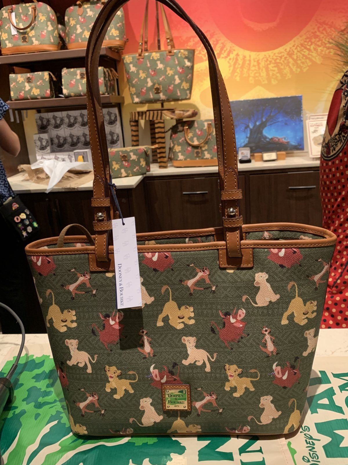 The Lion King Disney's Animal Kingdom Disney Dooney and Bourke Purse