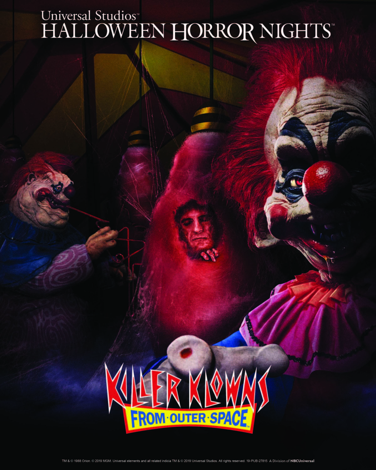 Universal Orlando Halloween Horror Nights 2019 Killer Klowns from Outer Space Mazes at Halloween Horror Nights 2019