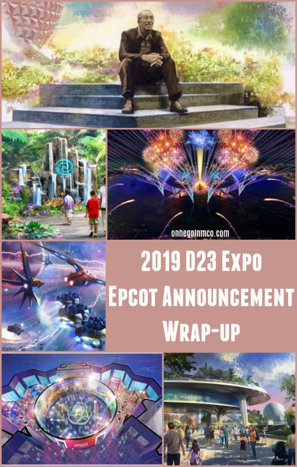 2019 D23 Epcot Announcement Wrap up