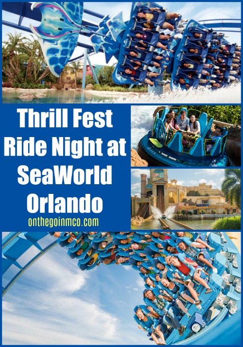 Thrill Fest Ride Night at SeaWorld Orlando 2019