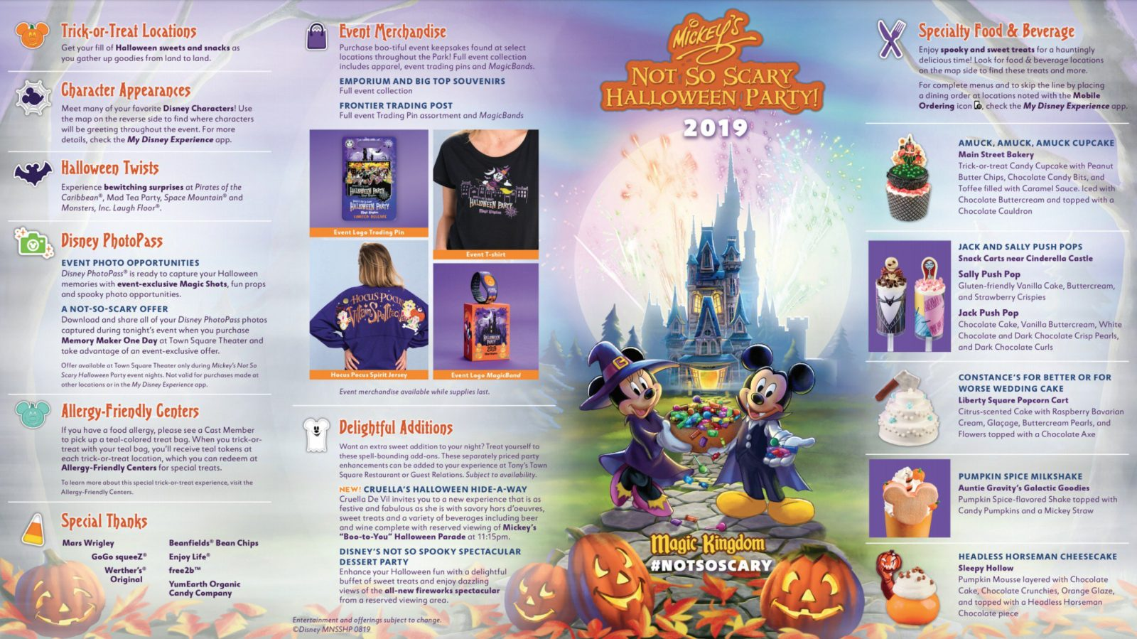 Mickey's Not So Scary Halloween Party Map 2019 Outside