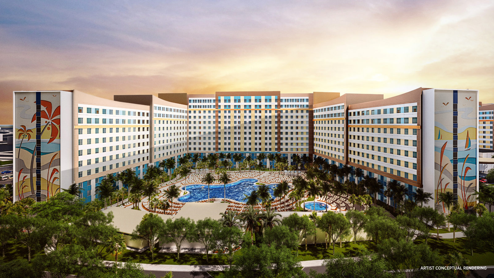 Universal Endless Summer Resort Dockside Inn and Suites Rendering
