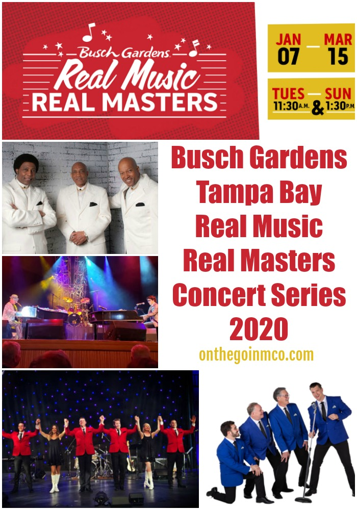 Real Music Real Masters Concert Series 2020 Busch Gardens Tampa Bay