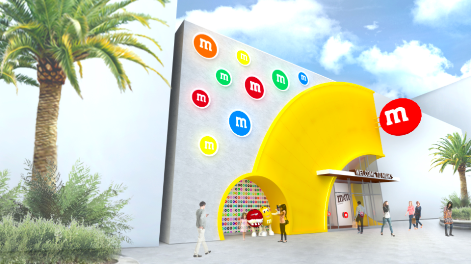 Disney Springs M&M Store Exterior Rendering