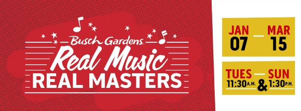 Busch Gardens Tampa Bay Real Music Real Masters 2020 - LOGO January 2020