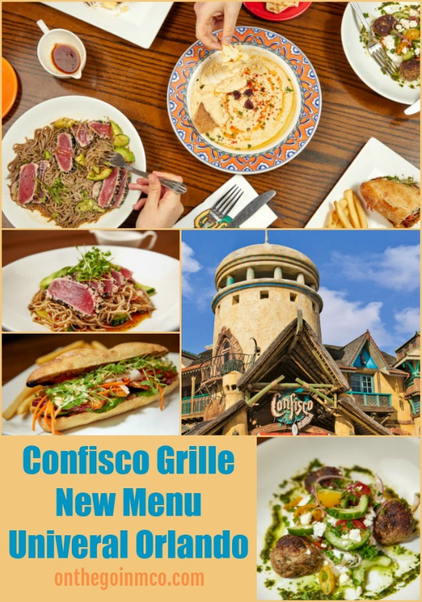 Universal Orlando Resort Universal's Islands of Adventure Confisco Grille Menu