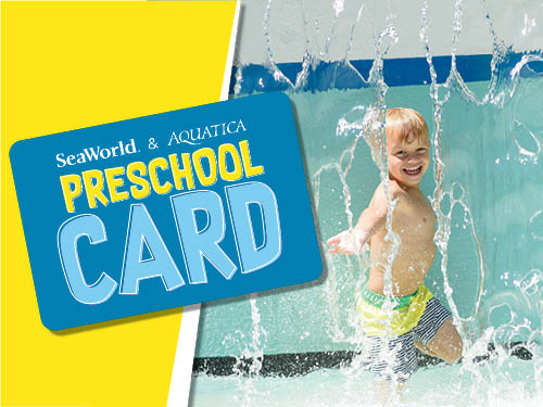 SeaWorld Orlando Aquatica Orlando Preschool Card 2020
