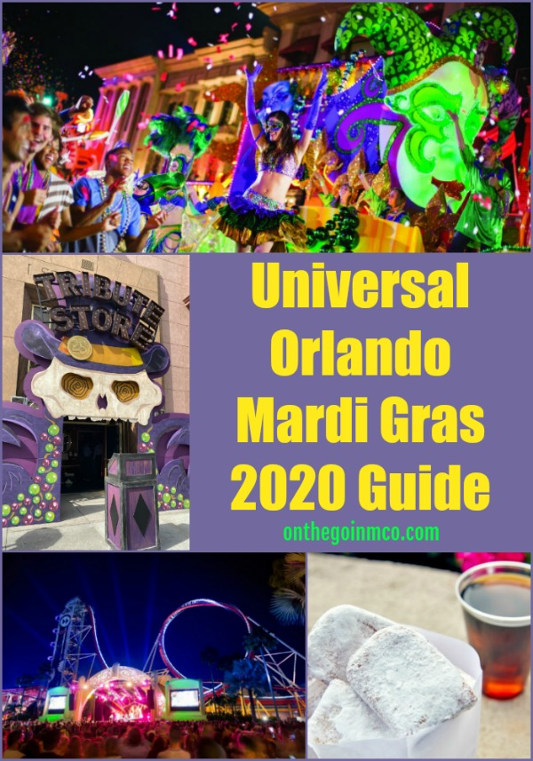 Universal Orlando Mardi Gras 2020 Guide On the Go in the Parks February