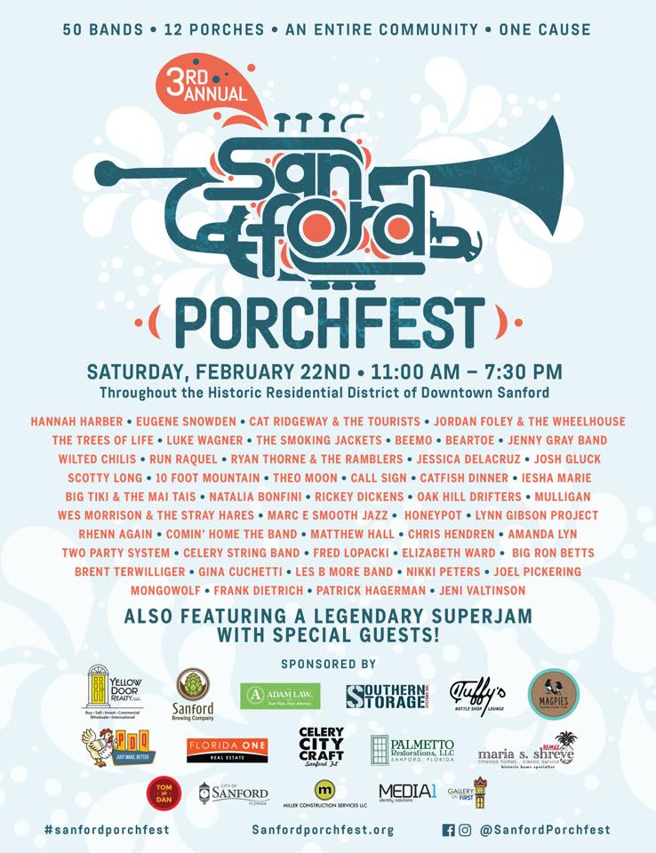 On the Go in Orlando - feb 21 2020 - Porchfest 2020