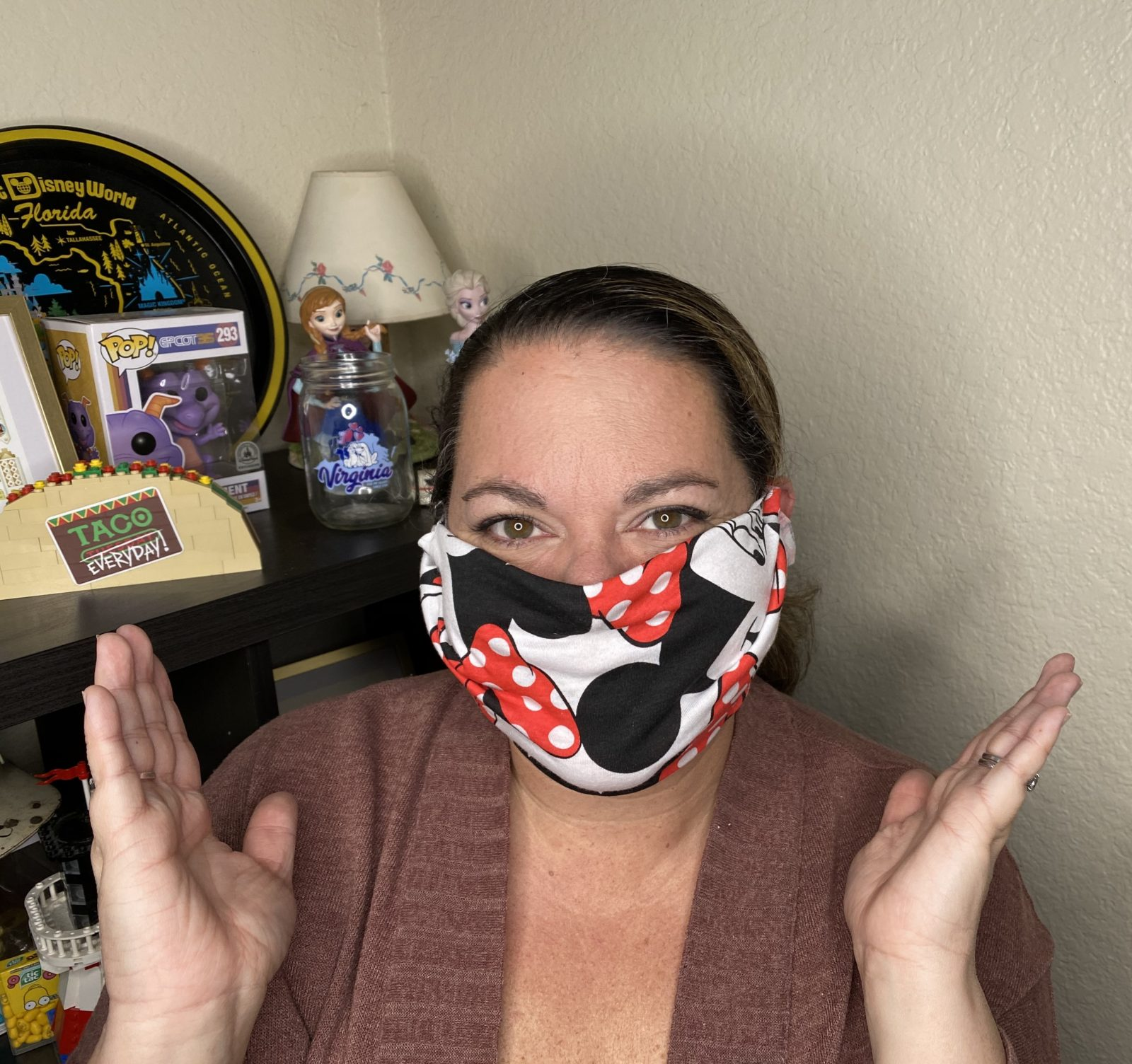No-Sew T-Shirt Mask DIY - Putting your mask on