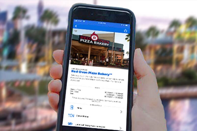 Universal Orlando Resort CityWalk Mobile Ordering