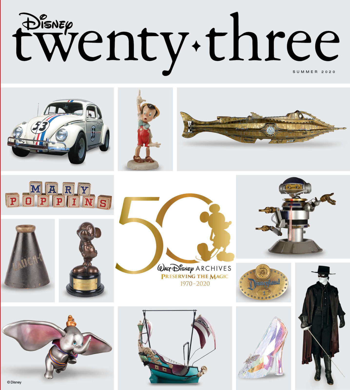 Disney twenty-three magazine June 2020 Cover Walt Disney Archives