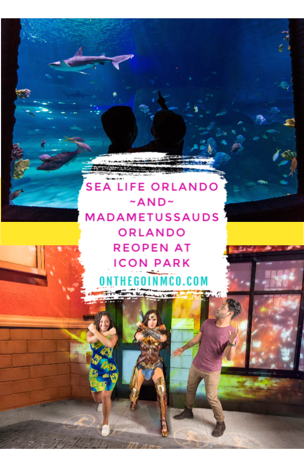 SEA LIFE Orlando Madame Tussauds Orlando ICON Park Reopen May 2020