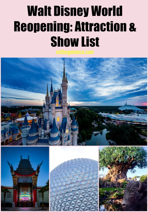 Walt Disney World Reopening: Attractions Opening