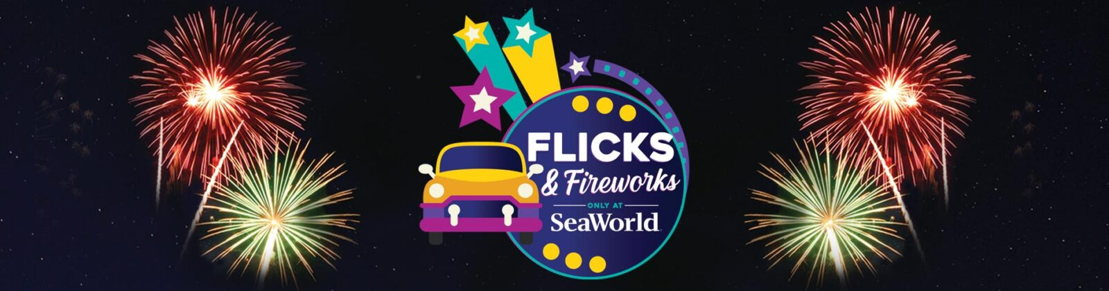 Flicks and Fireworks SeaWorld Orlando 2020