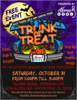 Aloma Halloween Trunk or Treat