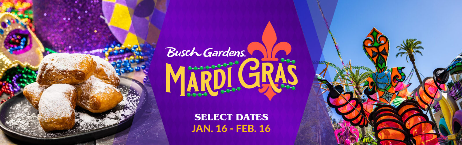 Busch Gardens Tampa Mardi Gras 2021 On the Go in the Parks January 2021