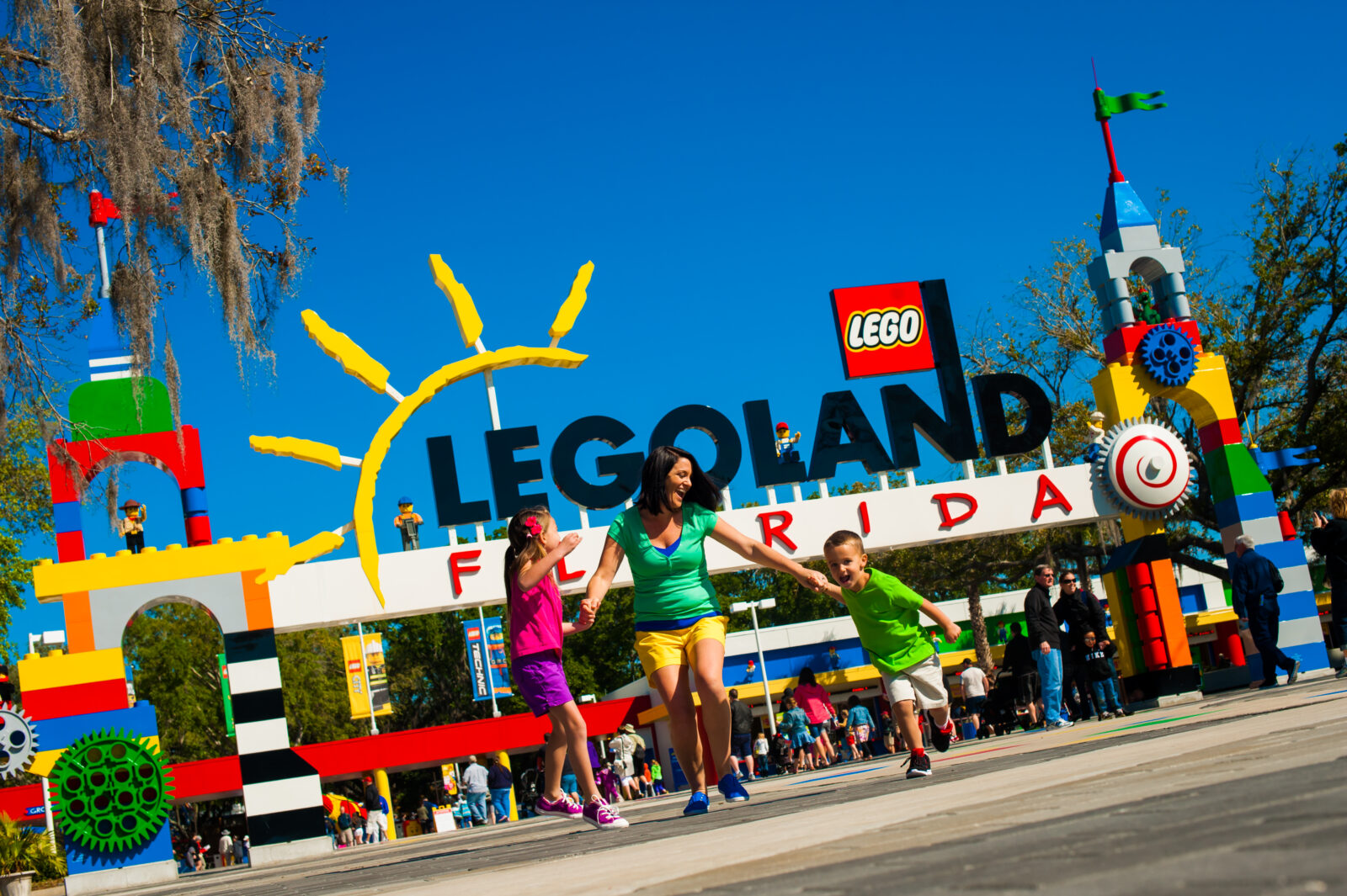 LEGOLAND Florida Preschooler Pass Park Entrance with Family