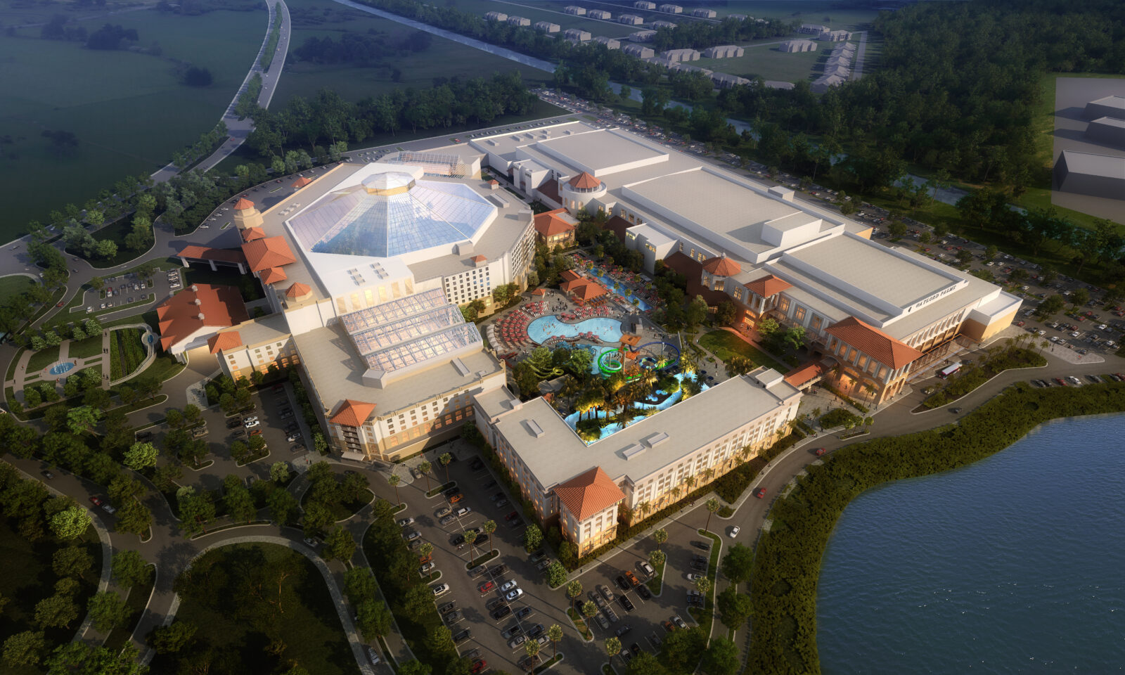 Gaylord Palms Expansion Aerial View Rendering