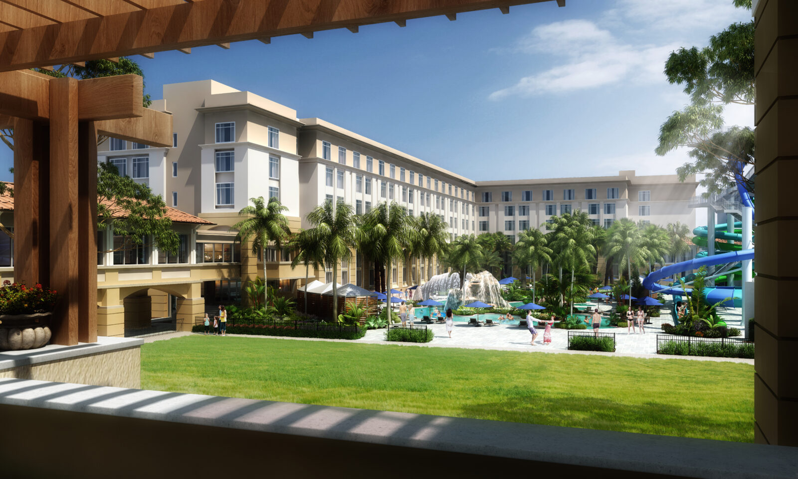 Gaylord Palms Resort Crystal River Rapids and Event Lawn Rendering