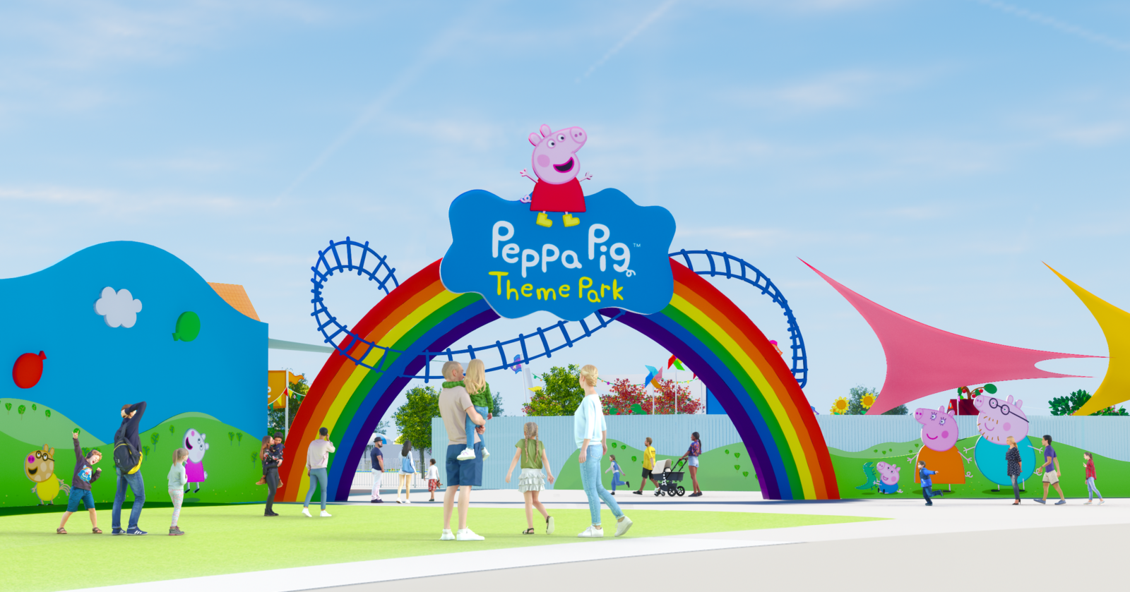 RENDERING_Front Gate_Peppa Pig Theme Park at LEGOLAND Florida Resort