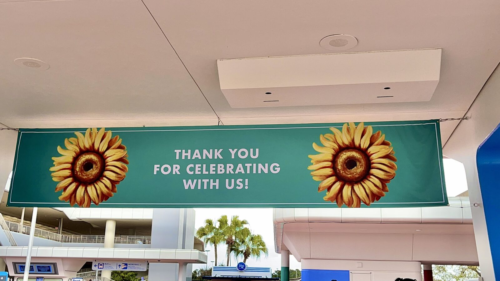2021 Epcot Flower and Garden Festival Thank you banner