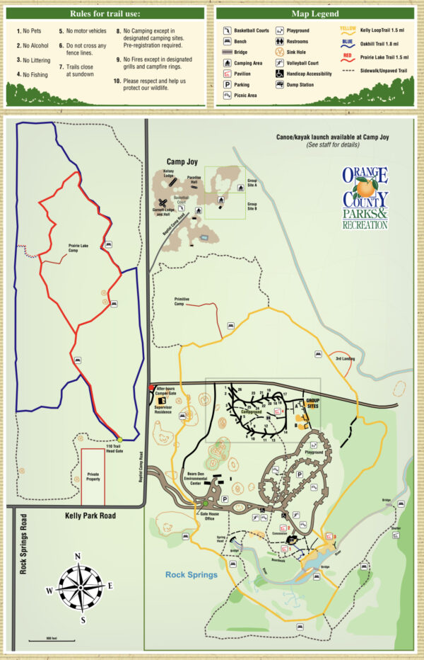 On the Go In MCO Explore the Great Outdoors Kelly Park Map