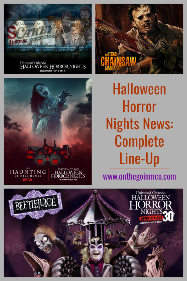 HHN 30 Full Lineup On the Go in the Parks