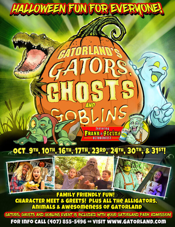 On the Go in MCO Gatorland Gators Ghosts and Giggles 2021